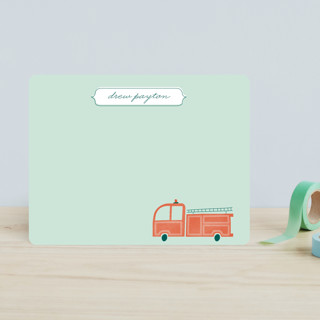 Fire Engine Children's Stationery