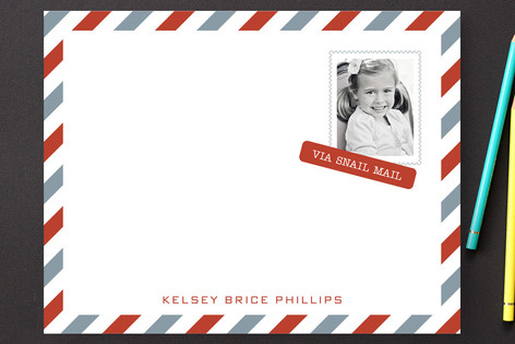 Snail Mail Children's Stationery