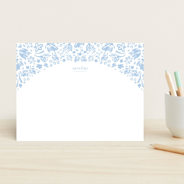 """sweet caroline"" - Children's Stationery in Frost by Julie Murray."