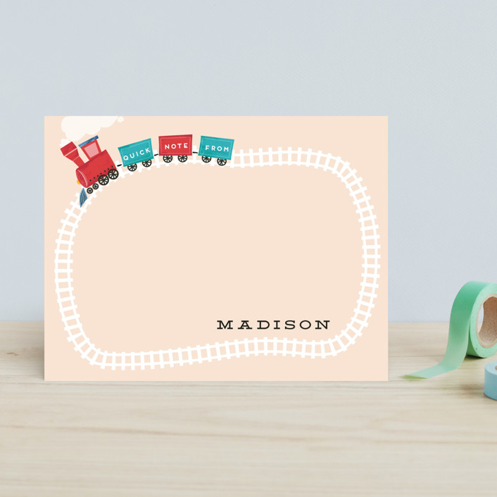 """frecciarossa"" - Children's Stationery in Peach by chocomocacino."