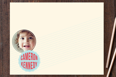 Simple Badge Children's Stationery