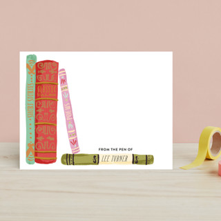 Painted Book Spines Children's Stationery