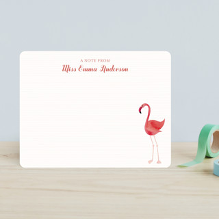 Fancy Flamingo Children's Stationery