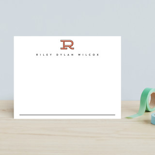 Classic Initial Children's Stationery