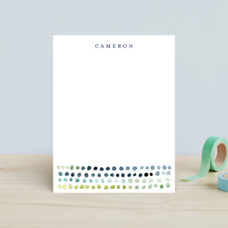 Watercolor Dots Children's Stationery