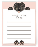 This is a pink kids thank you cards note by Gwen Bedat called Pawsome Note with standard printing on signature in standard.