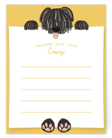 Pawsome Note Children's Personalized Stationery