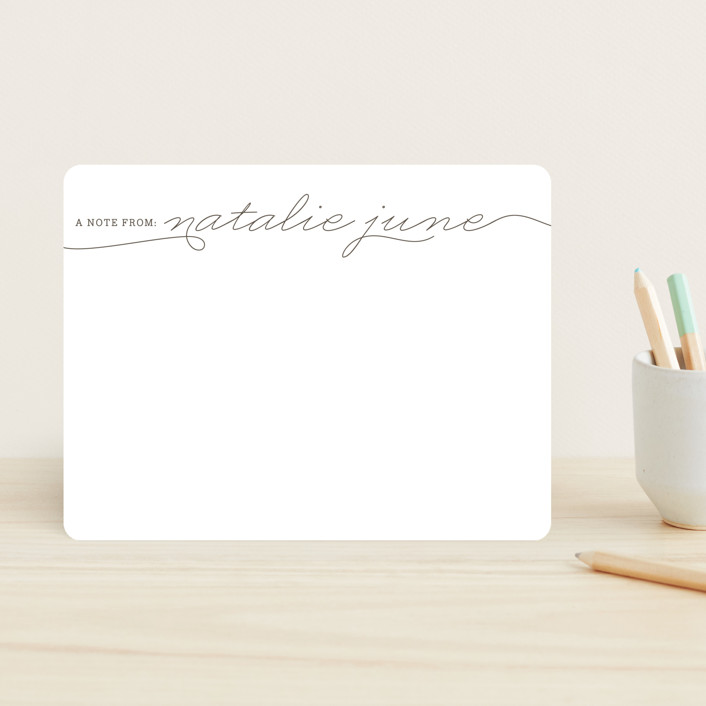 """""""The Perfectionist"""" - Minimalist, Classical Children's Stationery in Graphite by annie clark."""