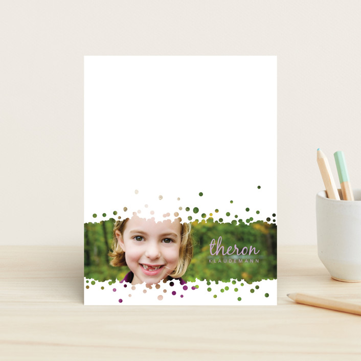 """Pitter-Patter"" - Modern Children's Stationery in Cotton Candy by Betta."