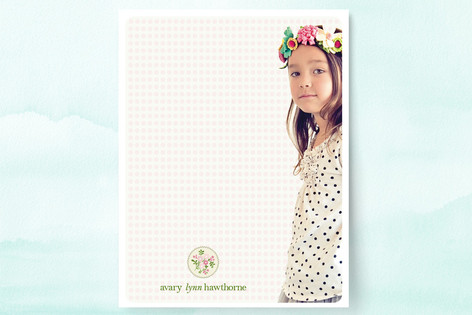 Avary's Wreath Children's Stationery