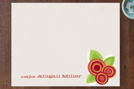 Floral Bounty Children's Stationery