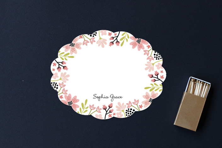 """""""Floral Chic"""" - Floral & Botanical Children's Stationery in Petal by Chasity Smith."""