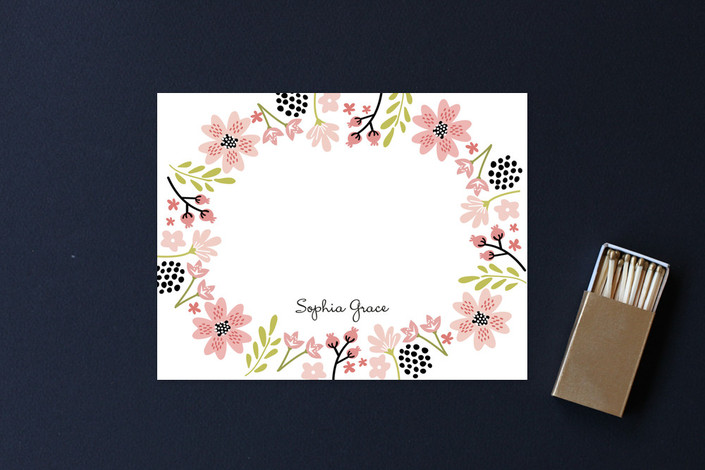 """Floral Chic"" - Floral & Botanical Children's Stationery in Petal by Chasity Smith."