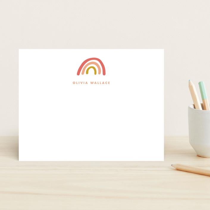 """Rainbow dream"" - Children's Stationery in Sorbet by Stacey Meacham."
