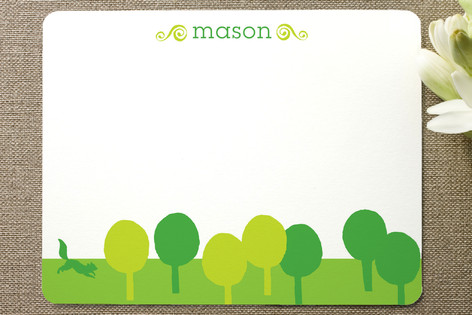 Cut Paper Forest Children's Stationery