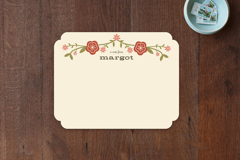 Floral Frame Children's Stationery