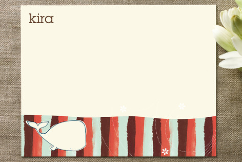 Whale tale II Children's Stationery