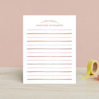 Striped Children's Stationery
