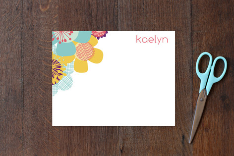 Retro Floral Children's Stationery