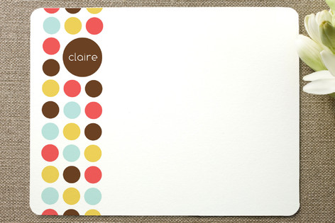 Circle Dot Children's Stationery