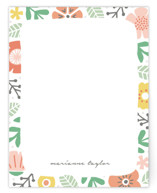This is a colorful kids thank you cards note by Michelle Taylor called Floral Garden with standard printing on signature in standard.