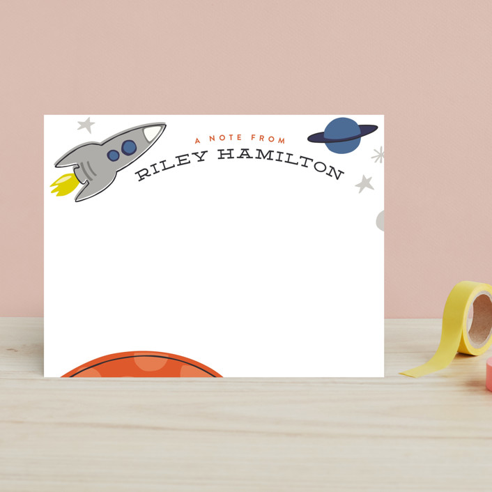 """""""Mission To Mars"""" - Children's Stationery in Neptune by Griffinbell Paper Co.."""