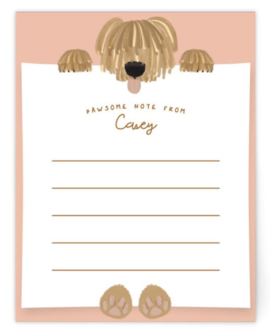 Warm Pawsome Note Children's Personalized Stationery