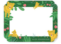 This is a green kids thank you cards note by Vivian Yiwing called Hide and Seek with standard printing on signature in standard.