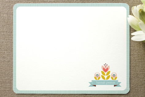 Pretty Floral Children's Stationery