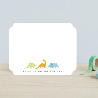 Dino Parade Children's Stationery