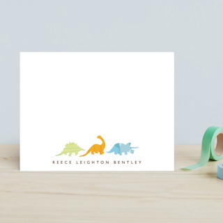 Dino Parade Children's Stationery
