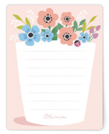 This is a pink kids thank you cards note by Karidy Walker called You grow girl with standard printing on signature in standard.
