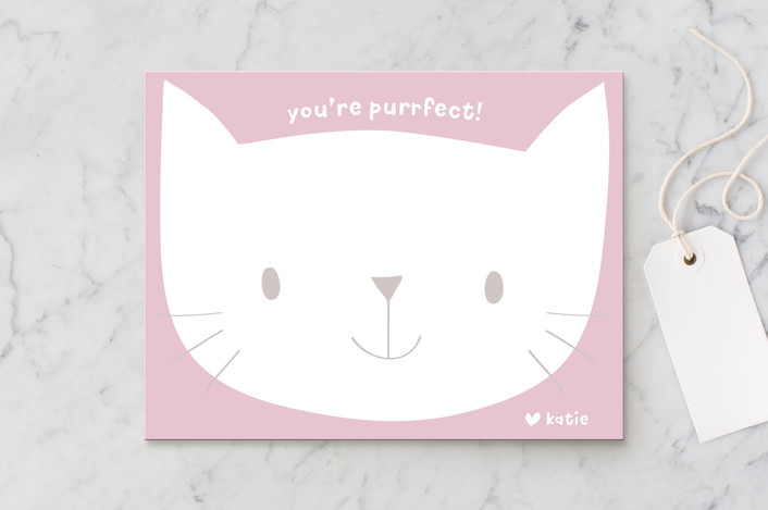 """""""kitty notes"""" - Children's Stationery in Blush by Guess What Design Studio."""