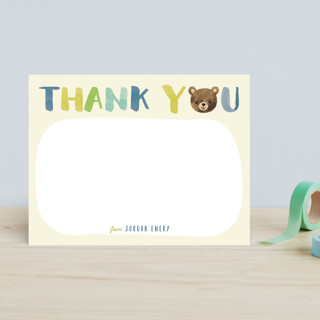 Little Bear Thank You Children's Stationery