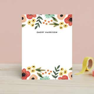 Watercolor Flowers Children's Stationery