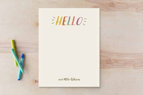 A playful Hello Children's Stationery