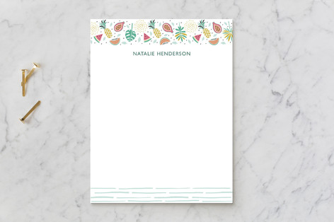 Tropical Vibe Children's Stationery