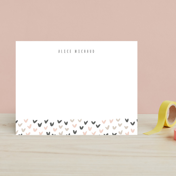 """Little Heart"" - Children's Stationery in Carnation by Angela Garrick."