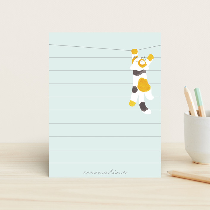 """""""Kitty"""" - Children's Stationery in Cotton Candy by JeAnna Casper."""