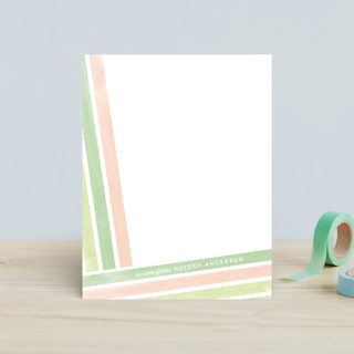 Angled Stripes Children's Stationery
