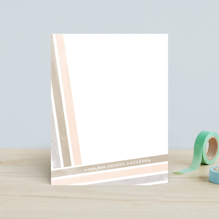 """Angled Stripes"" - Children's Stationery in Spring by Shirley Lin Schneider."