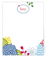 This is a blue kids thank you cards note by JPress Designs called spring blossom with standard printing on signature in standard.