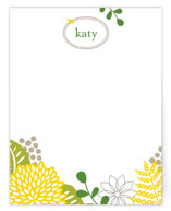 This is a green kids thank you cards note by JPress Designs called spring blossom with standard printing on signature in standard.