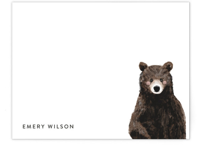 Baby Animal Bear Children's Personalized Stationery