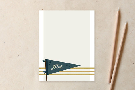 vintage pennant Children's Stationery