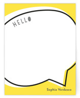 This is a yellow kids thank you cards note by Lisa Tamura Guerrero called Bubble with standard printing on signature in standard.