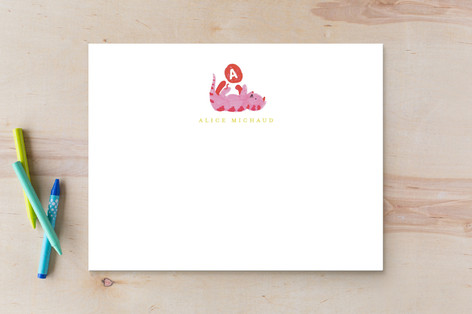 frisky kitty Children's Stationery