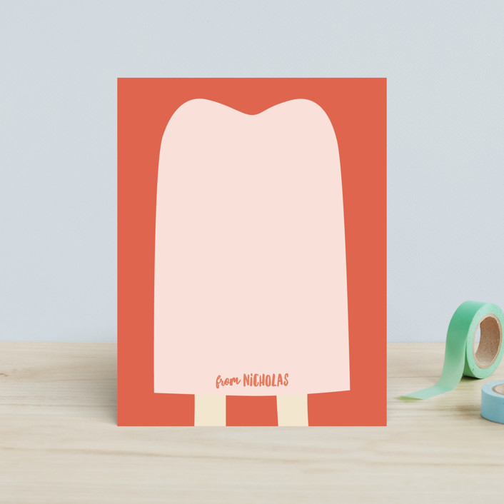 """popsicle notes"" - Children's Stationery in Cool Mint by Guess What Design Studio."