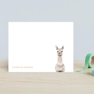 Baby Animal Llama Children's Stationery