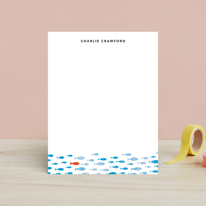 """Stand Out"" - Simple, Whimsical & Funny Children's Stationery in Ocean Blue by 24th and Dune."